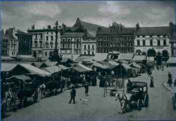 View of the market in 1898